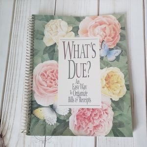 What's Due? Spiral Bound Bill & Receipt Organizer